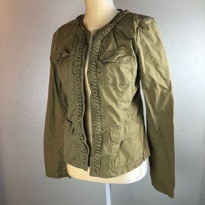 J. Crew Tan Cotton Braided Jacket 6